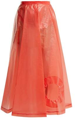 Toga Laminate Cut Out Skirt - Womens - Red