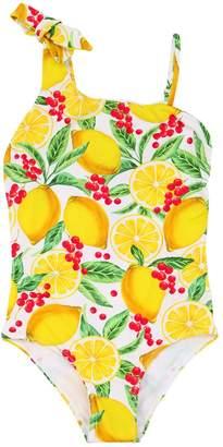 MC2 Saint Barth Lemon Print Lycra One Piece Swimsuit