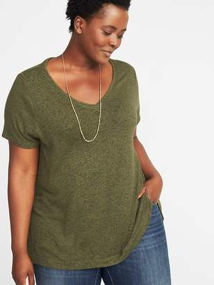 Old Navy Plush-Knit Plus-Size Luxe V-Neck Tee