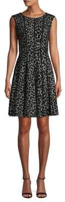 Gabby Skye Leopard Printed A-Line Dress