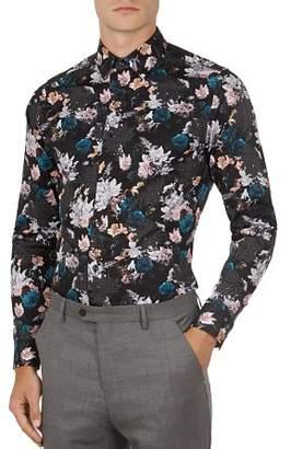 Ted Baker Rhubarb Floral Geometric Print Button-Down Shirt