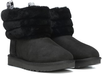 UGG Fluff Mini Quilted suede ankle boots
