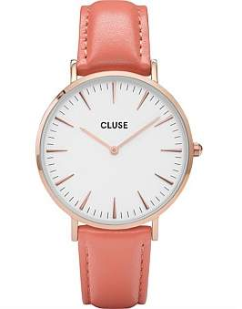 Cluse La Boheme Rose Gold White/Flamingo