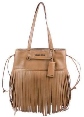 Miu Miu Medium Leather Fringe Bag
