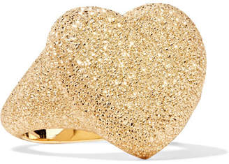 Florentine Heart 18-karat Gold Ring