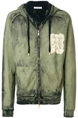 Pierre Balmain zipped hoodie