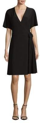 Halston H Dolman-Sleeve Wrap Dress