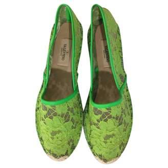 Valentino Green Polyester Espadrilles