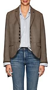 Pas De Calais Women's Checked Wool Hopsack Blazer - Brown