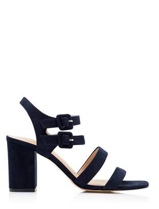 Forever New Polly Mid Block Heels - Navy - 37