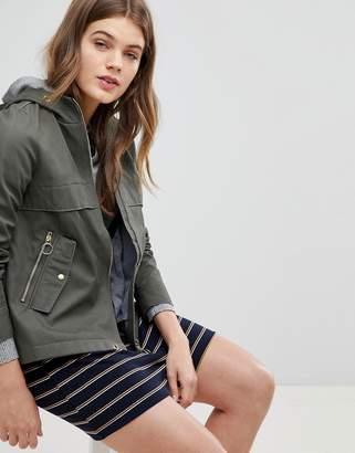 Esprit Canvas Zip Jacket With Hood