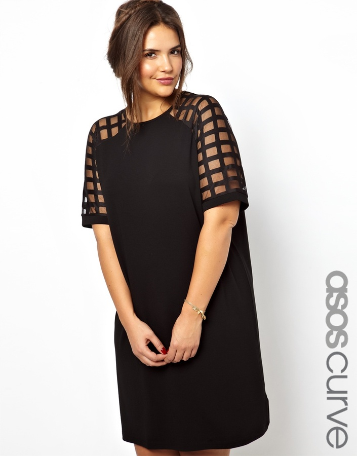 Asos Exclusive Shift Dress With Cage Detail