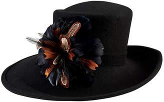 San Diego Hat Company Wool Felt Wide Brim With Flower Trim