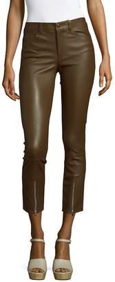 Helmut Lang Women's Zip Accent Leather Pants