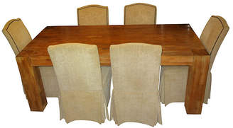 One Kings Lane Vintage Farmhouse Table & 6 Chairs - Jeter's Antiques