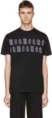 McQ Black Gothic Repeat Logo T-Shirt