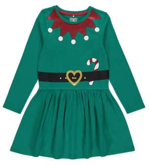 George Green Elf Jersey Mini Me Christmas Dress