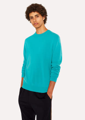 Paul Smith Men's Turquoise Cashmere Crew Neck Sweater