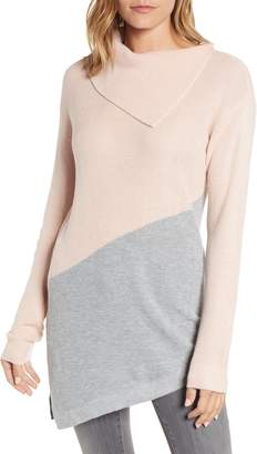Vince Camuto Asymmetrical Colorblock Tunic Sweater