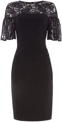 Lauren Ralph Lauren Short sleeve lace overlay shift dress