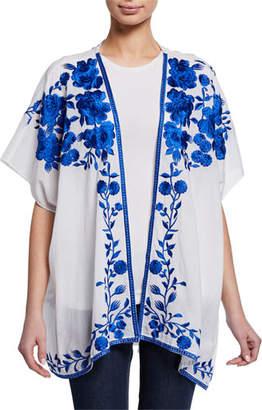 Tolani Noelle Floral Embroidered Half-Sleeve Jacket