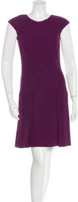 Oscar de la Renta Wool Textured Dress
