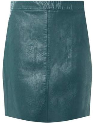 Dorothy Perkins Womens Green PU Pocket Mini Skirt