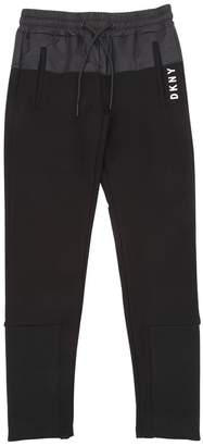 DKNY Stretch Jersey Pants W/ Nylon Detail