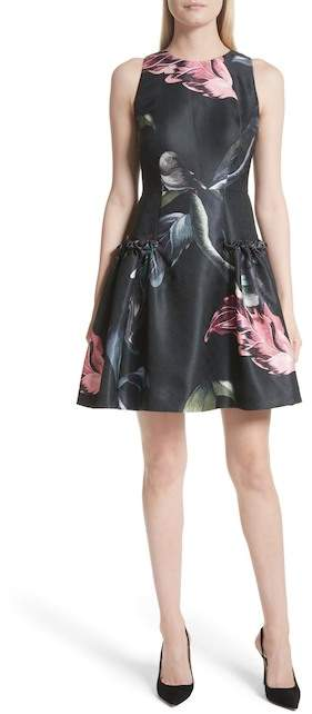 Ted Baker Sarahe Floral Fit & Flare Dress