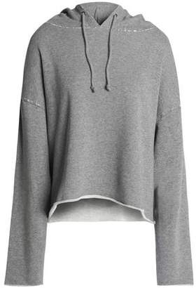 RtA Distressed Cotton-Blend French Terry Hooded Sweatshirt