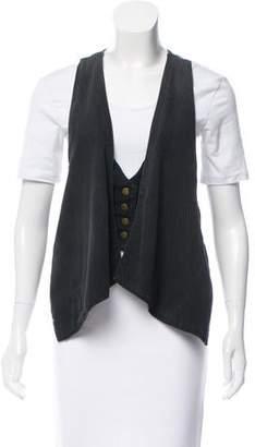 Current/Elliott Patterned Overlay Vest