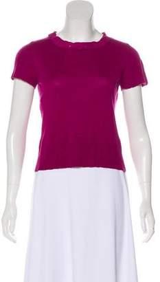 Alberta Ferretti Silk & Cashmere-Blend Top