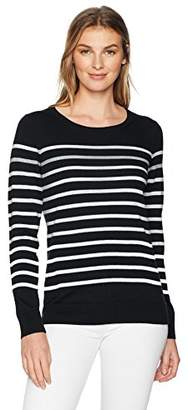 Amazon Essentials Women's Lightweight Crewneck Stripe Sweater