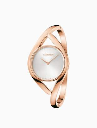 Calvin Klein party rose gold bangle watch