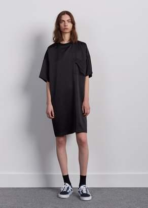 6397 Silk Tee Dress Black