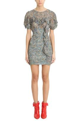 Isabel Marant Face Floral Print Ruffle Trimmed Dress