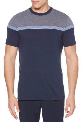 Perry Ellis Colorblock Jacquard Tee