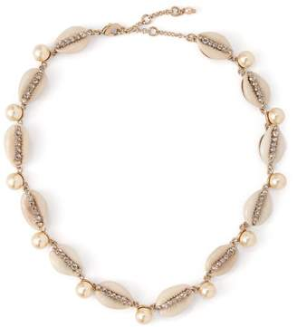 Etro Shell, Crystal And Faux Pearl Choker - Womens - White