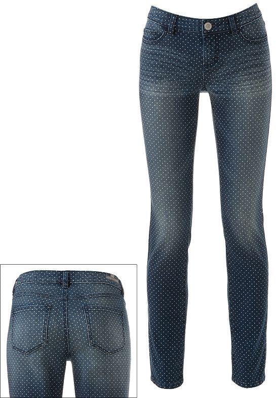 Lauren Conrad dot skinny jeans