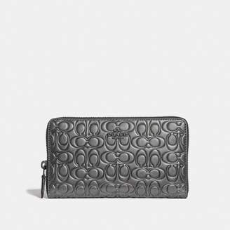 Coach Continental Wallet In Signature Leather