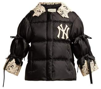 Gucci Ny Yankees Appliqued Padded Jacket - Womens - Black Multi