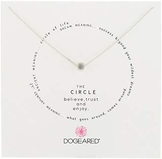 "Dogeared Circle"" Cirlce Charm Necklace"