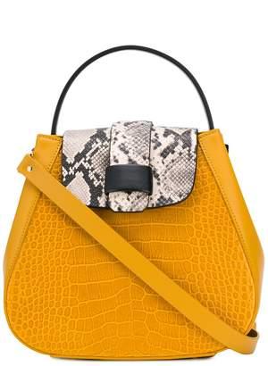 Nico Giani snakeskin-flap tote bag