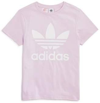 adidas Girls' Logo Graphic Tee - Big Kid