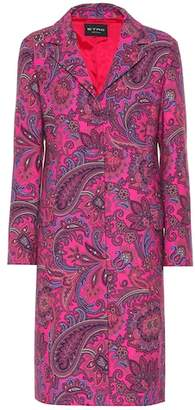 Etro Printed wool-blend coat