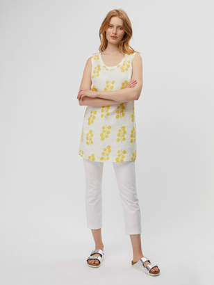White Stuff Olive Sprig Linen Tunic