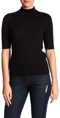 Acrobat Short Sleeve Mock Neck Sweater $141 thestylecure.com