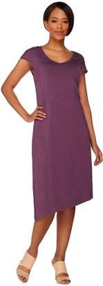 Halston H By H by Knit Midi Dress with Asymmetric Hem