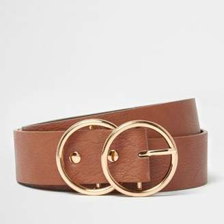 River Island Womens Tan double ring belt