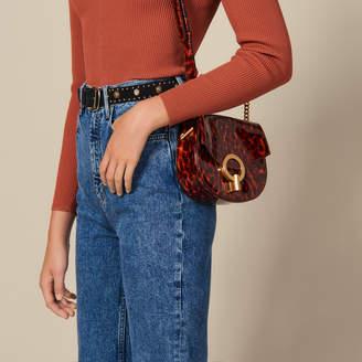 Sandro Pepita Patent Leather Bag, Small Model